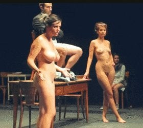 Actress Piera Bellatoin in stage play 'Provocation'