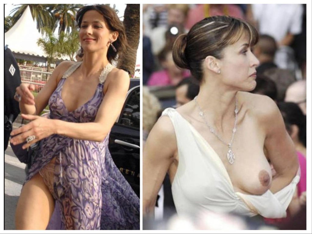 Sophie Marceau sometimes has trouble with clothing